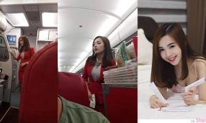 亚航正妹空姐Mabel Goo,偷拍照网络疯传意外爆红