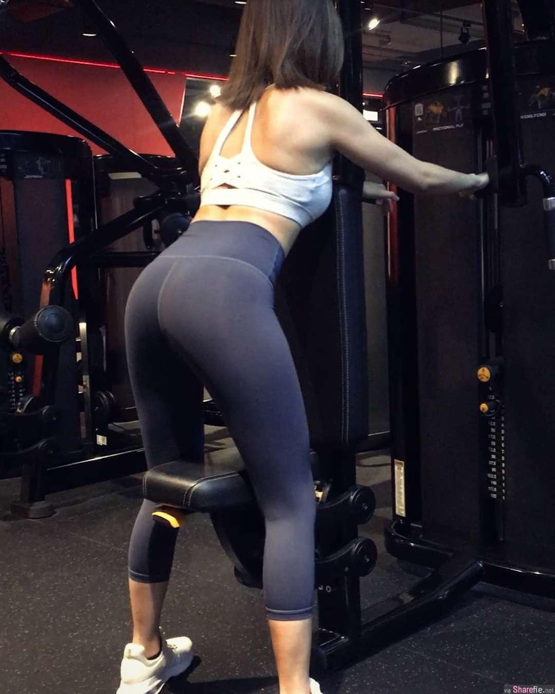 健身正妹Gina,浑圆翘臀狂洗版,网友:没关系,继续放