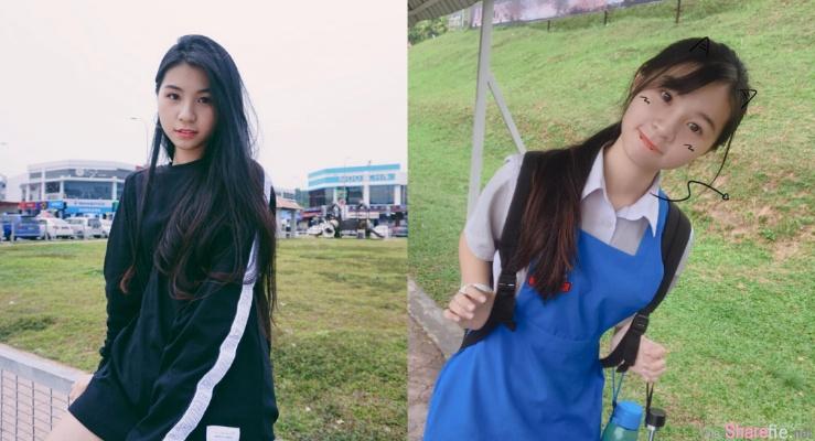 大马学生正妹Miki咏瑄,圆脸系可爱小女孩