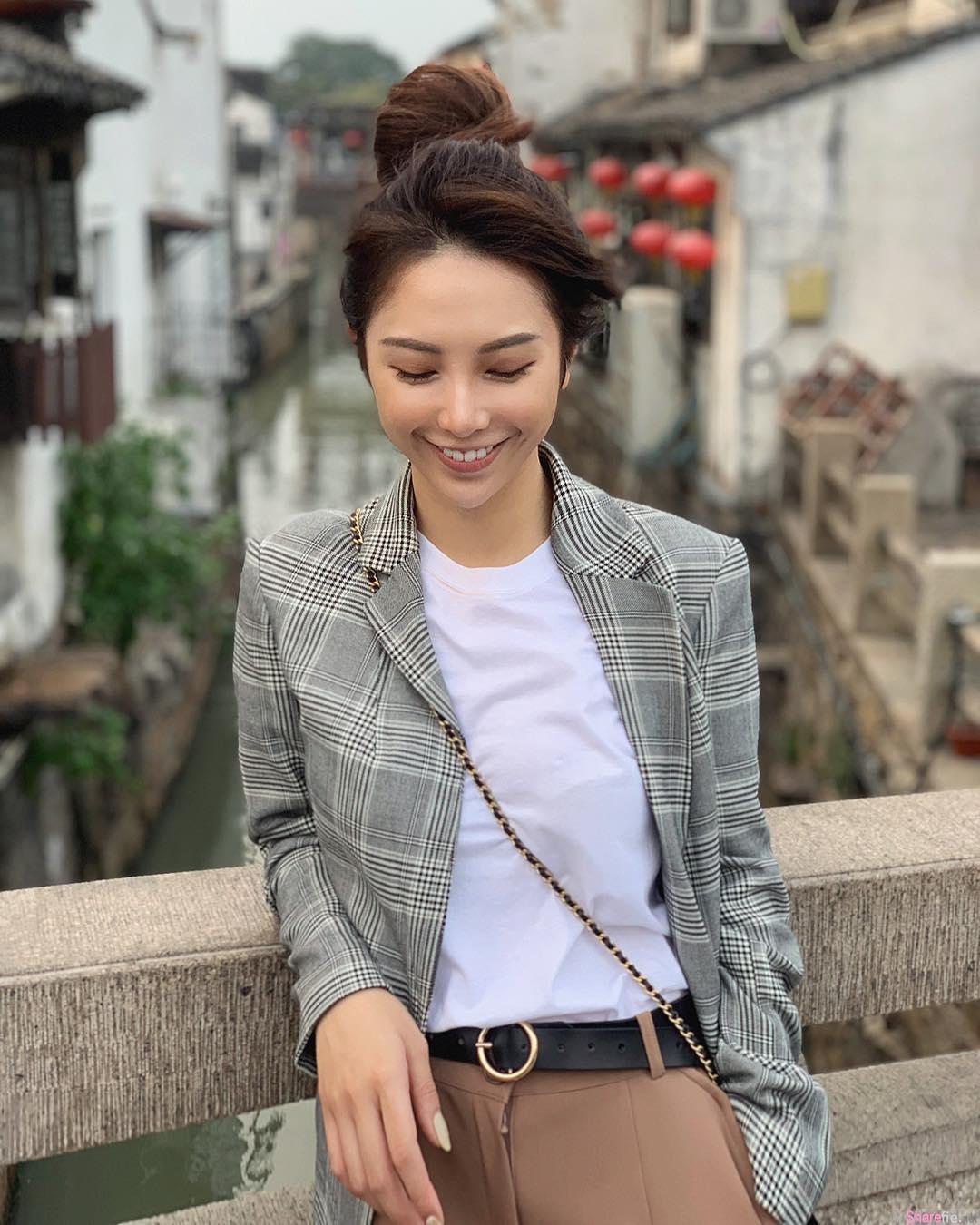 甜美正妹Stephanie Chiu,餐桌美拍好身材藏不住,网友:放得不错