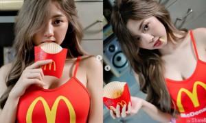 麦当劳正妹,看完让人慾火难耐的想吃....