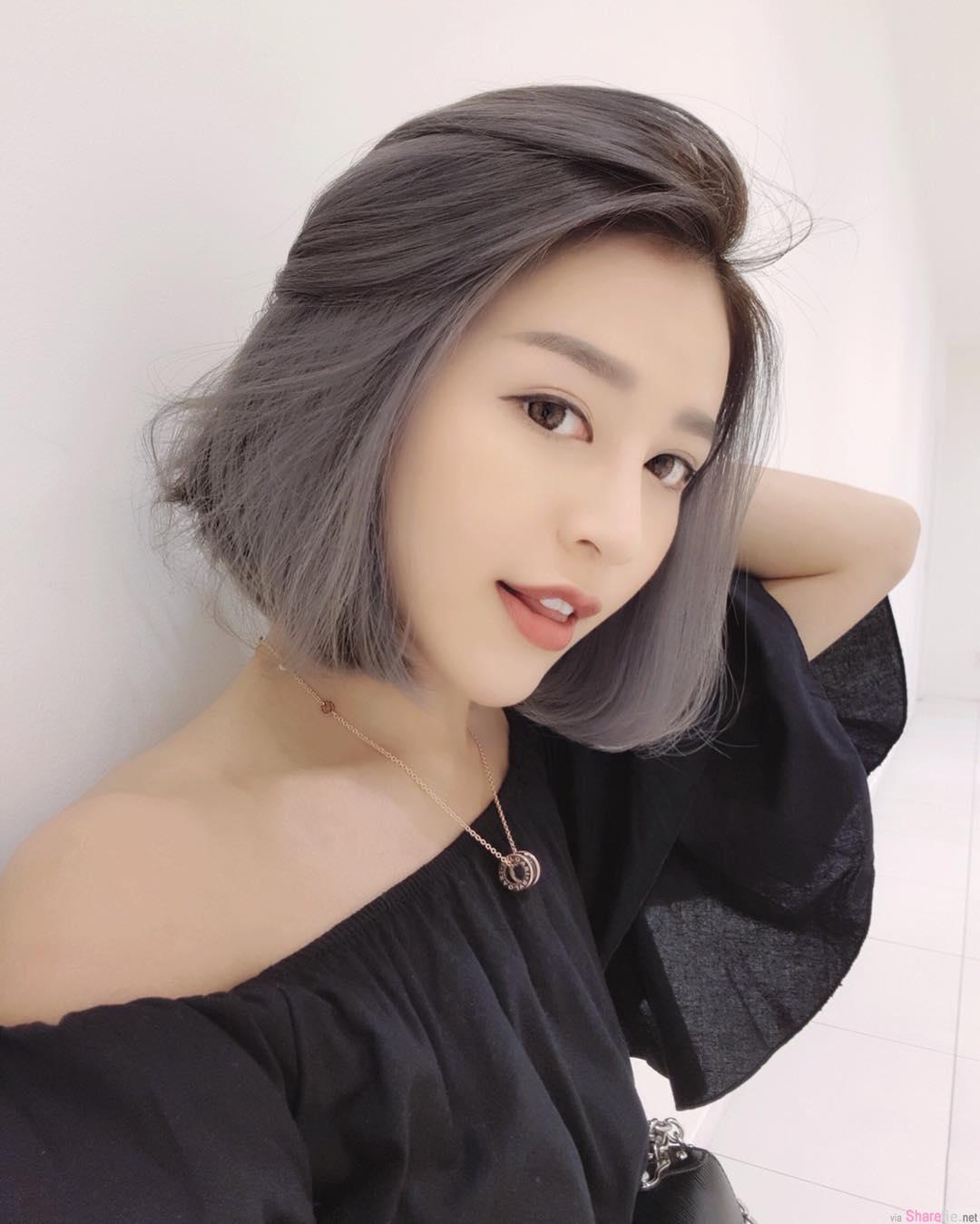 大马正妹Audrey佩欣,被风吹乱头髮的她好美