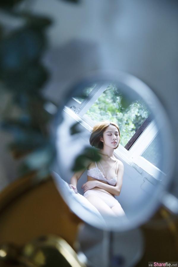 短髮正妹文柔内衣写真,气质甜美女孩的小性感