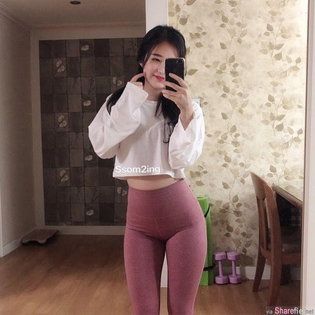 韩国正妹代言瘦身裤,身材曲线超迷人