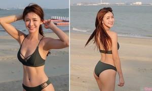 大马女神Joey Chua,运动的那么幸苦不为什么,只为了比基尼照