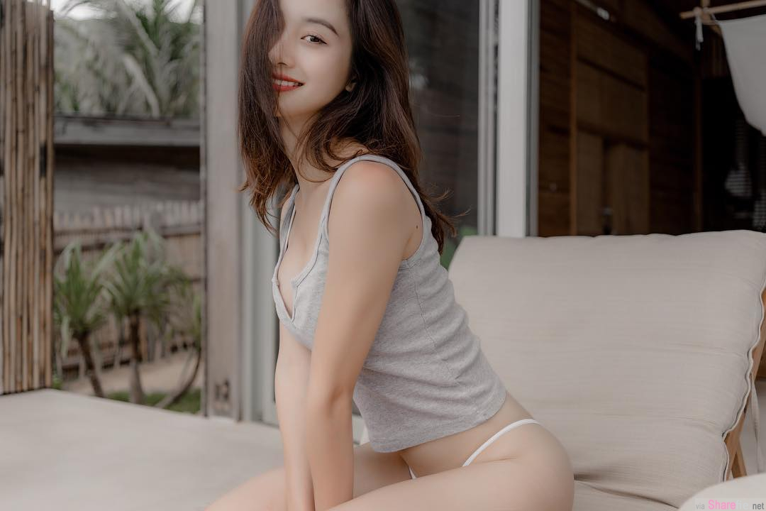越南正妹Jun Vũ,甜美脸蛋身材曲线更迷人