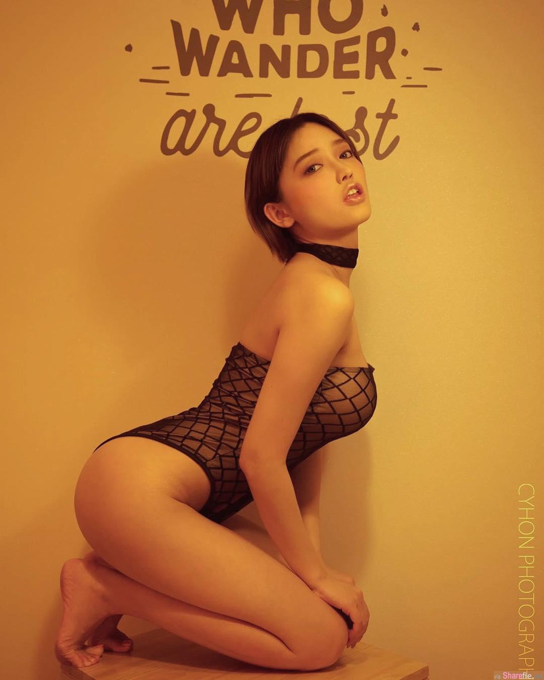 香港正妹Kiwi,万圣节街头深V超犯规