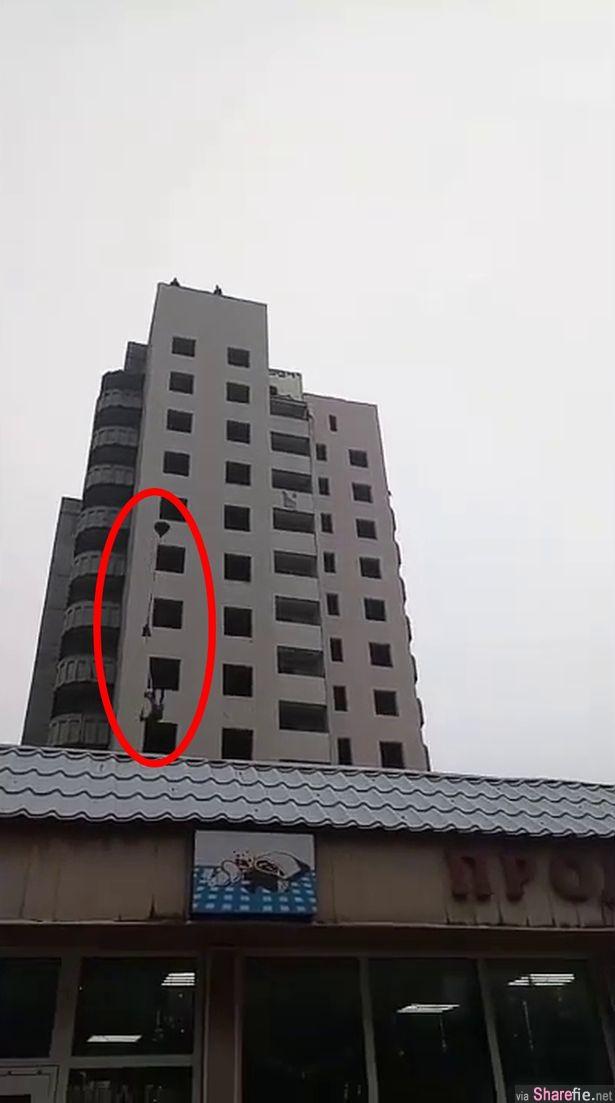 为了当网红,15岁少年DIY降落伞表演跳楼,14楼高母亲面前摔死