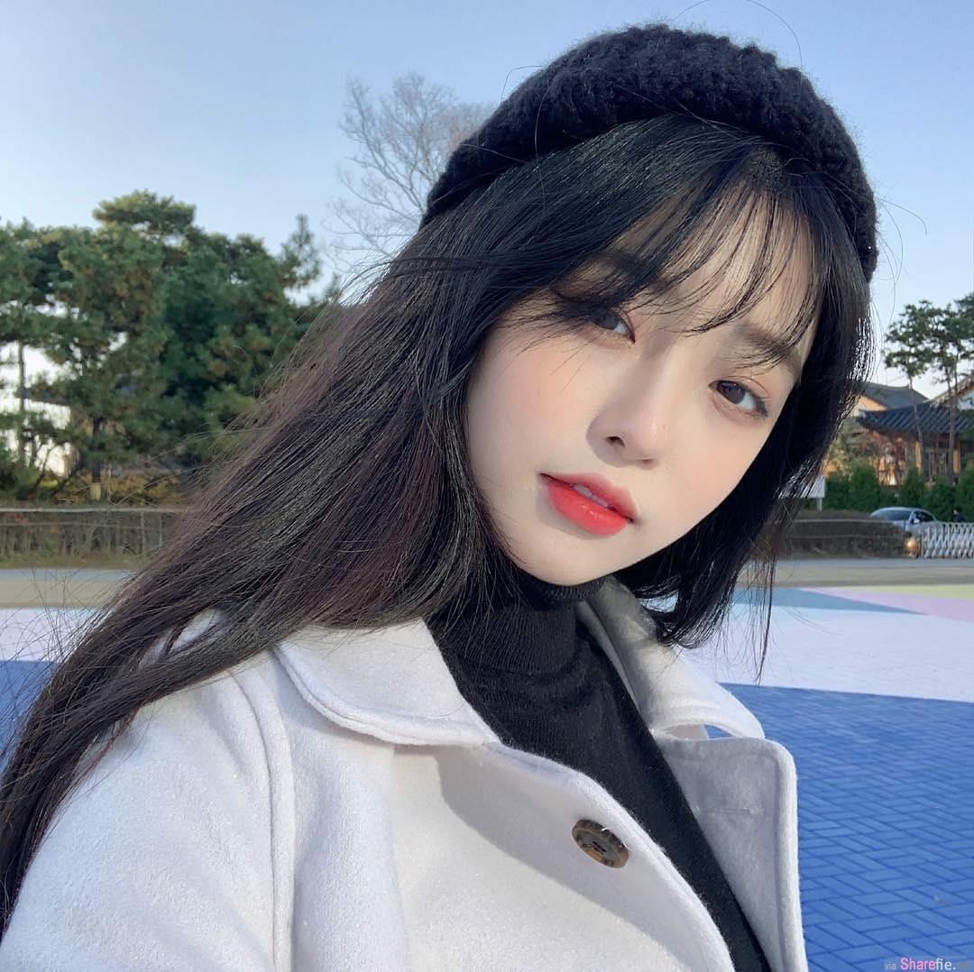 韩国正妹一个眼神就让人爱上她