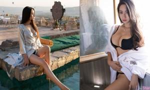 中国写真女神穆菲菲Angela,性感浴袍网友鼻血狂喷