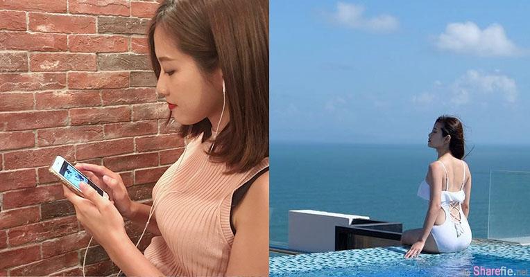 正妹Natalie Cheng用手机听歌,一转身网友恋爱了