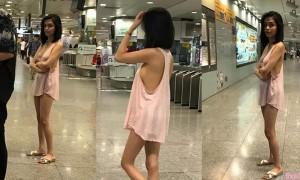 菲律宾女模穿透视睡衣提款,网友:她IG有露点