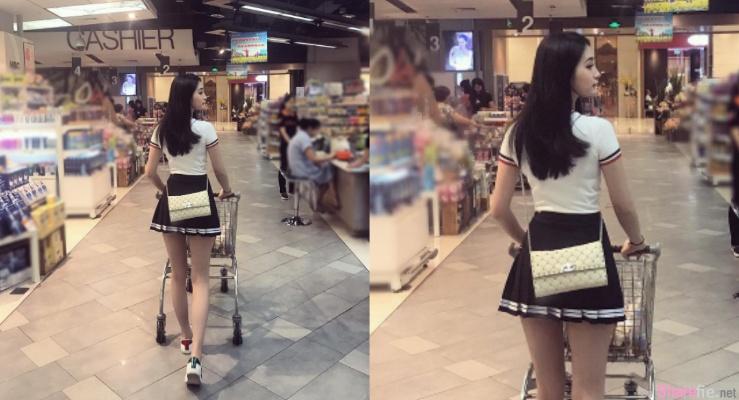 逛商场遇见长腿短裙正妹,回头一看美若天仙
