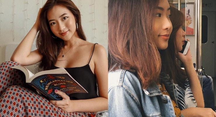 新加坡正妹Carrine清凉吊带看书,文青性感风好迷人