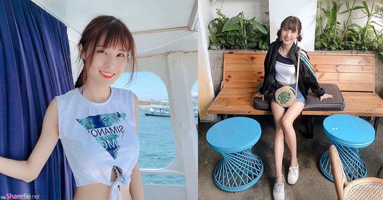 天然清新Youtuber「泥泥汝niniru」秀出泳衣中的泳衣还说有垫,网友:有没有垫都很正