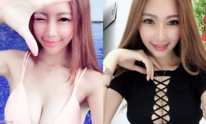 台湾主播正妹可希 Evenni,超甜脸蛋超深事业线
