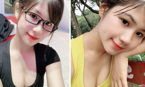 越南眼镜正妹甜美可爱,凹凸身材更诱惑