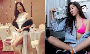 长腿黑美人Katrina Wang,东方脸蛋配欧美火辣身材