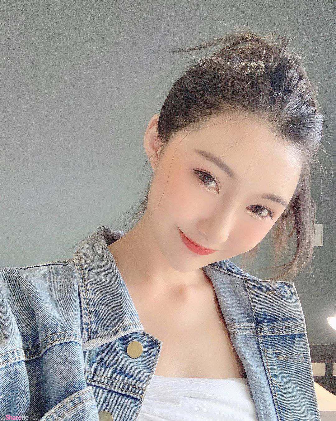 甜美正妹卢盈汝,内衣广告秀出姣好身材,网友:胸型很美