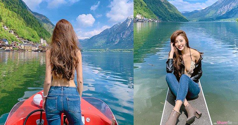 虎航空姐Rita初到欧洲,最美的美景是深V