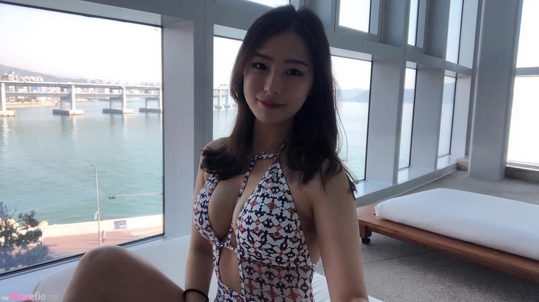 韩国正妹Becky,紧身衣凸显骄人身材