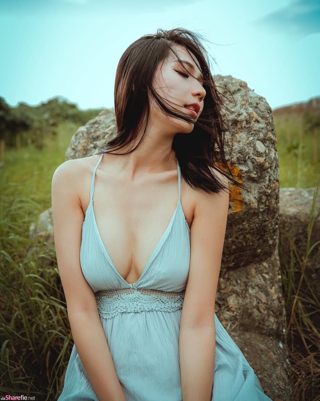 直播正妹萱萱,很害羞但依然不变的小性感清新风