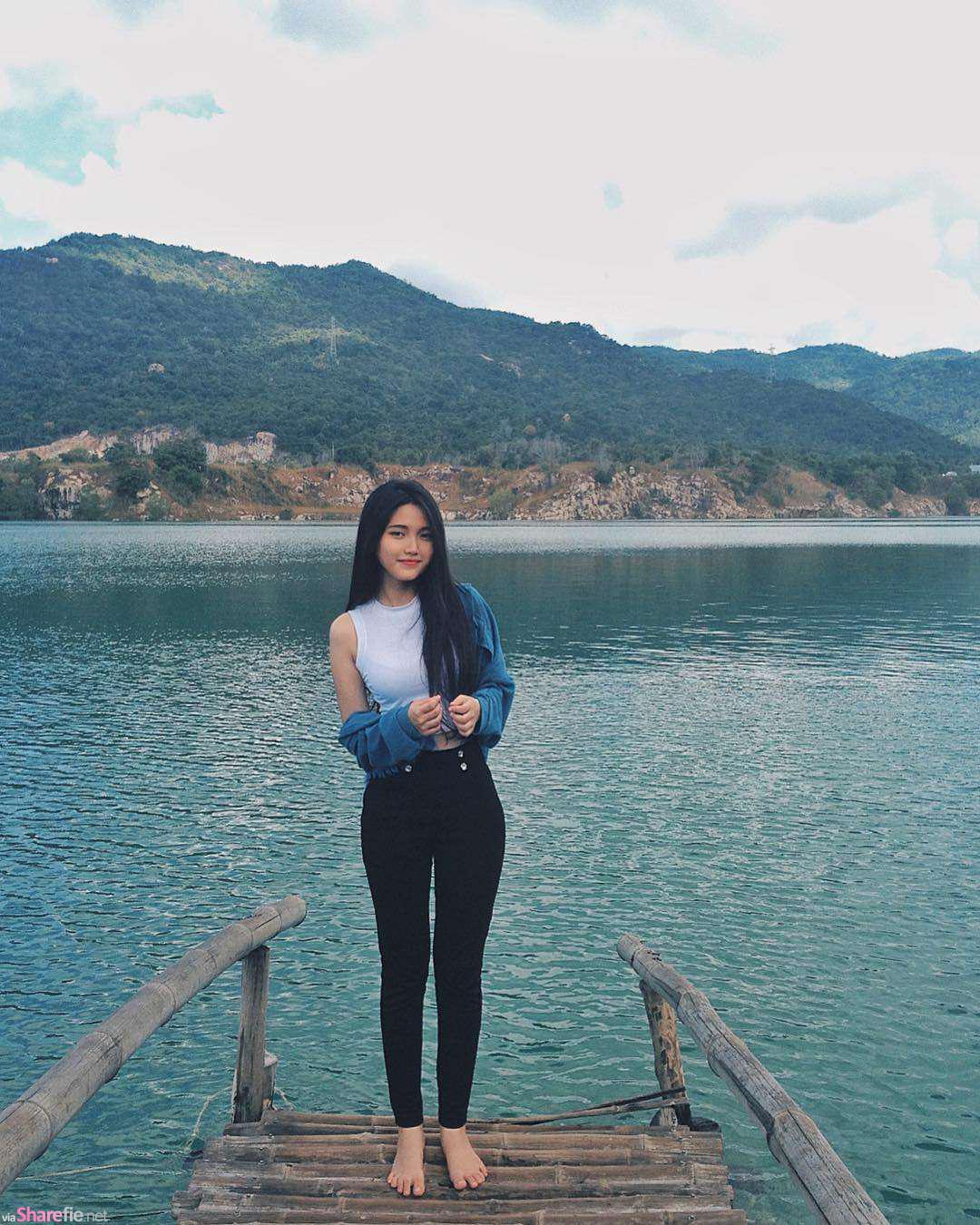 越南正妹Trâm Anh,甜美可爱