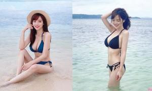 正妹丘涵海岛度假,新泳衣粉末登场