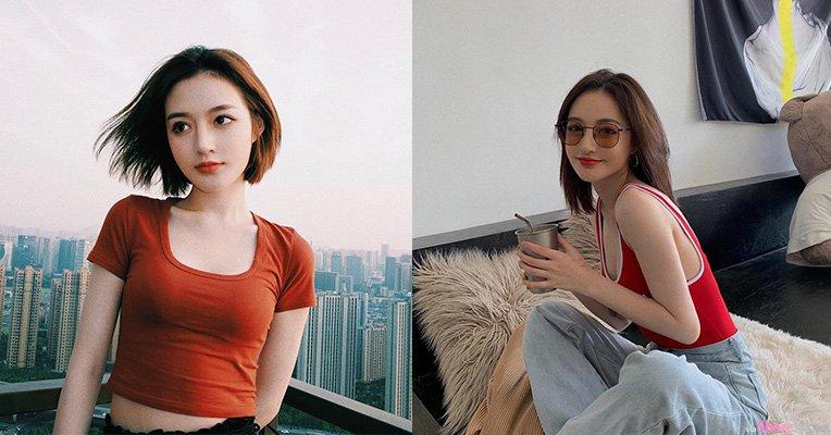 IG正妹Kiki Wang,高颜值脸蛋穿上低胸背心更吸睛