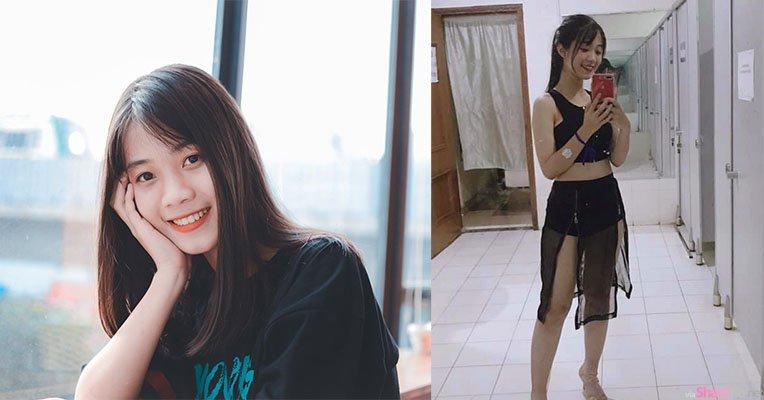 越南清新正妹阮泠安,拉链裙子好性感