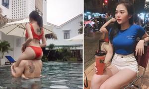 越南清新正妹,「紧身上衣」搭载「紧身热裤」身材曲线逼死网友