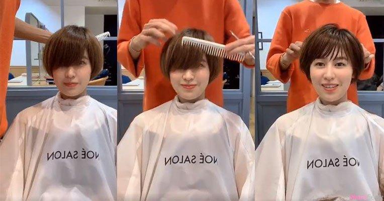 理髮师拍下帮顾客剪髮的过程,女生超正影片让人捨不得按停