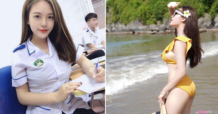 越南正妹雪白肌肤,比基尼大解放