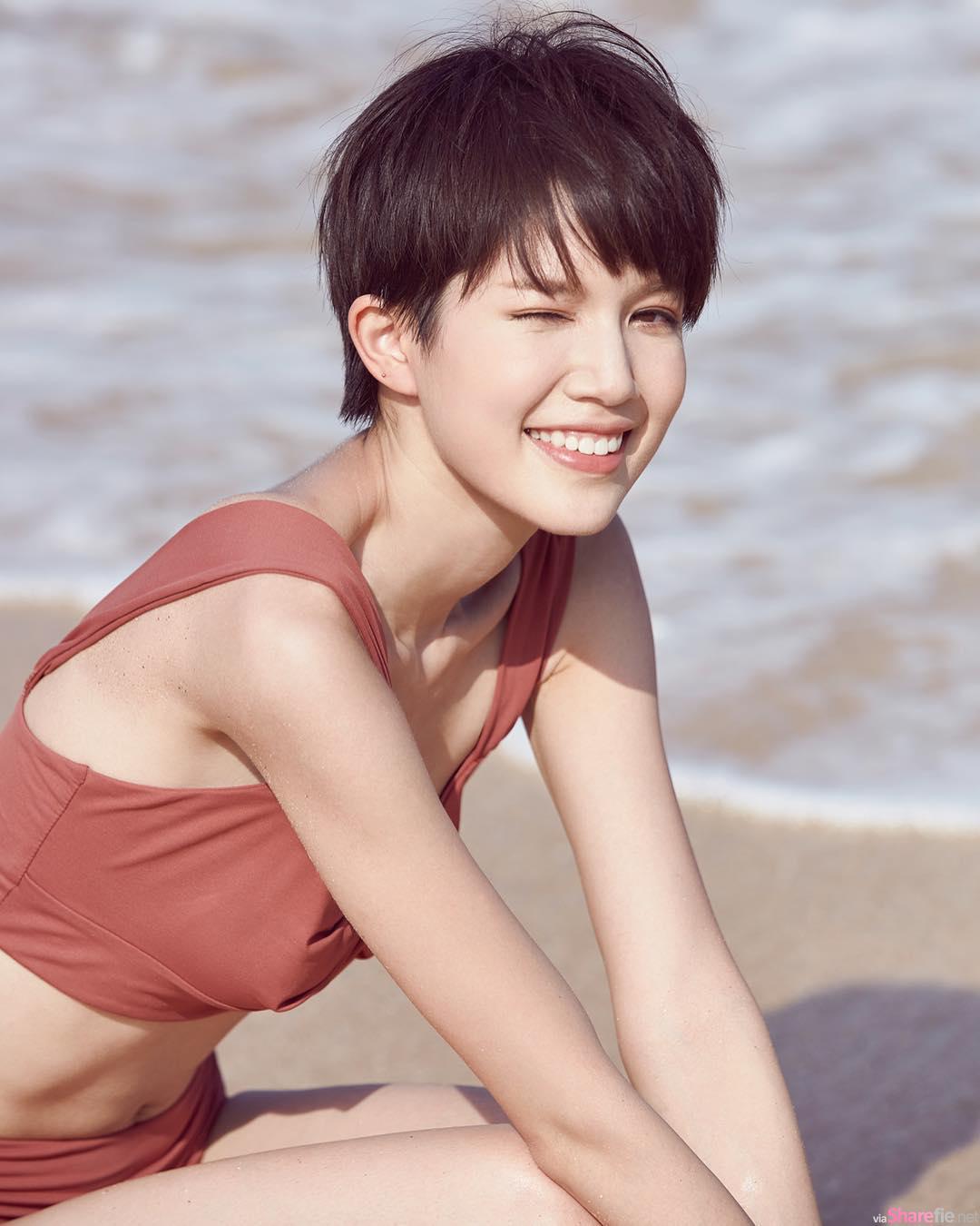 香港正妹苏皓儿,笑容甜美