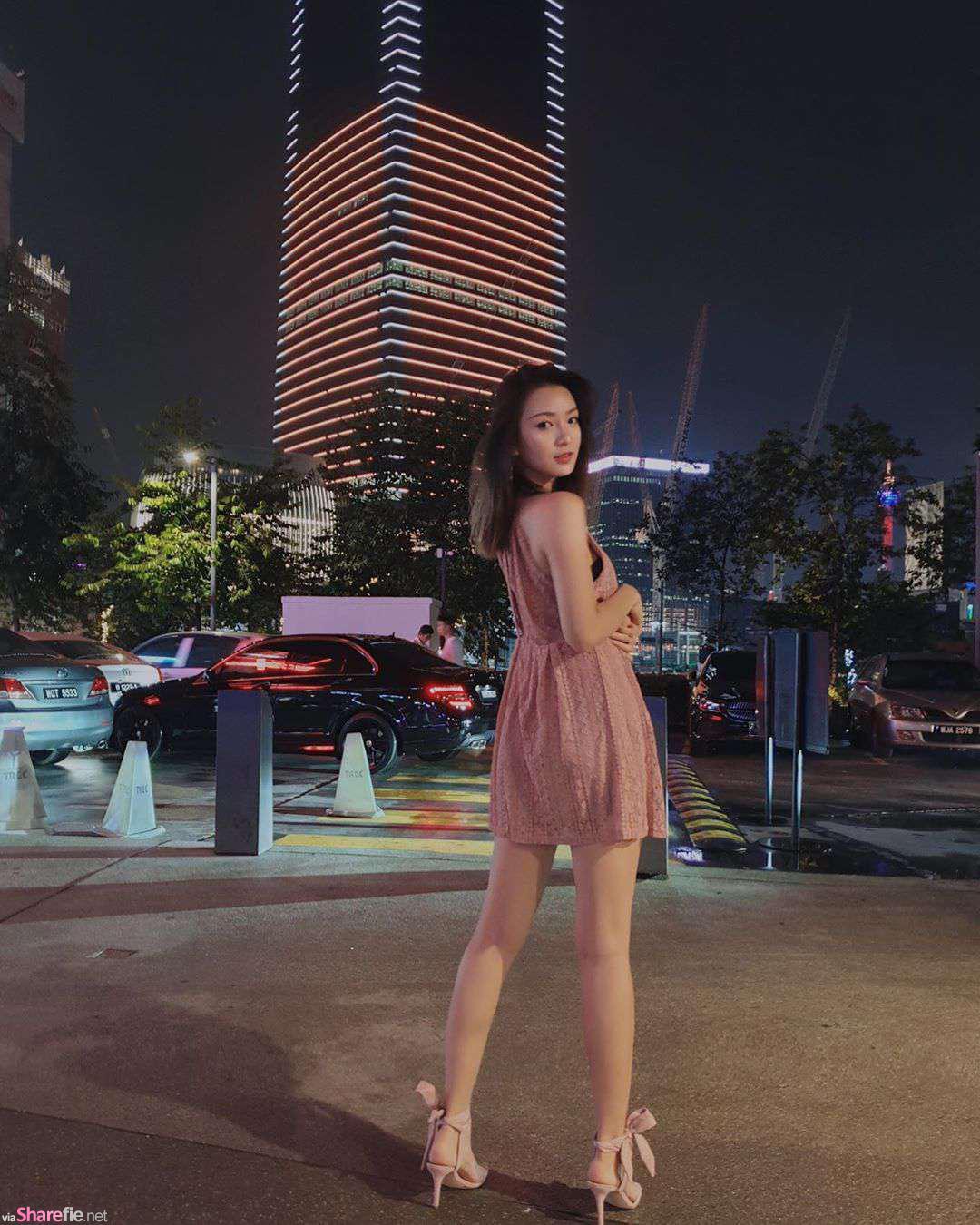 大马夜晚街头遇见长腿正妹,转身的那一刻,网友:我要恋爱了