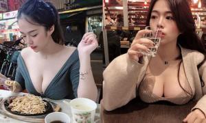 正妹Teresa凶勐上围摆上桌辣翻网友,最后一张「摸奶写真」超犯规