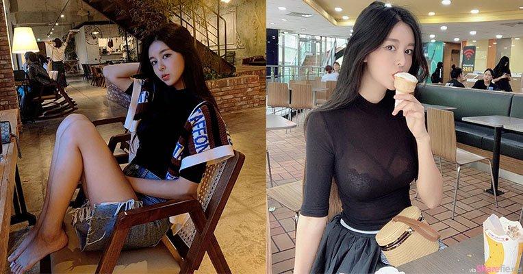 韩国正妹到麦当劳吃雪糕,网友眼睛也跟着吃冰淇淋