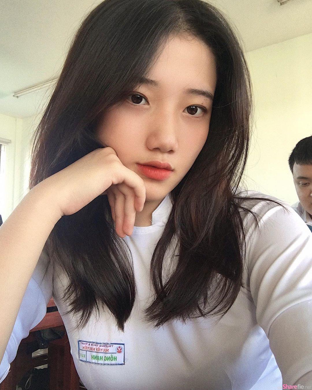 越南学生正妹上课随便自拍,甜美气质引网友暴动