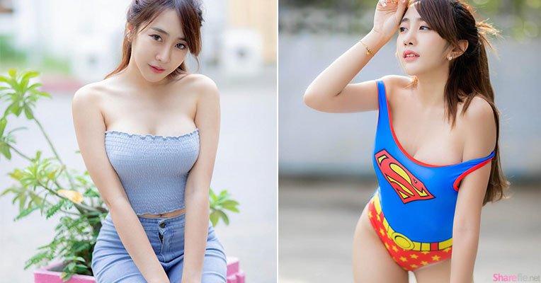 泰国女超人甜美可爱,饱满胸型辣翻网友