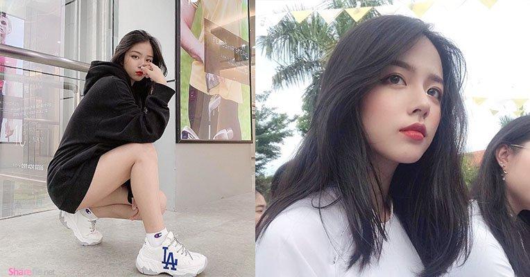 越南女大生校花,甜美气质征服网友