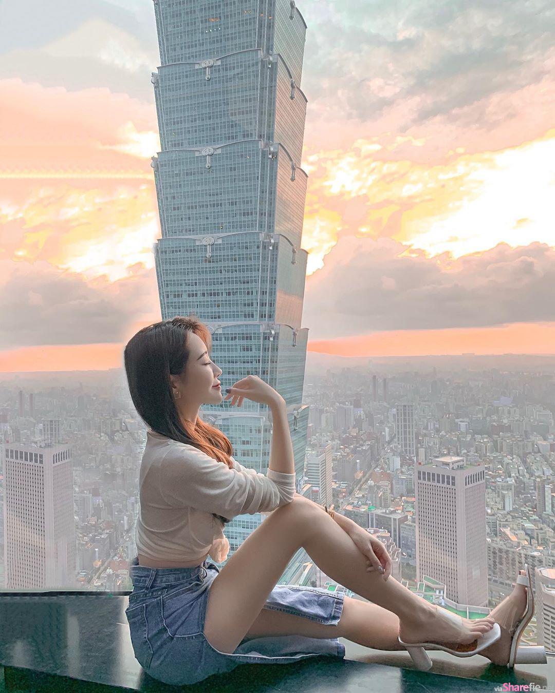台湾正妹石洁心,超吸睛的事业线