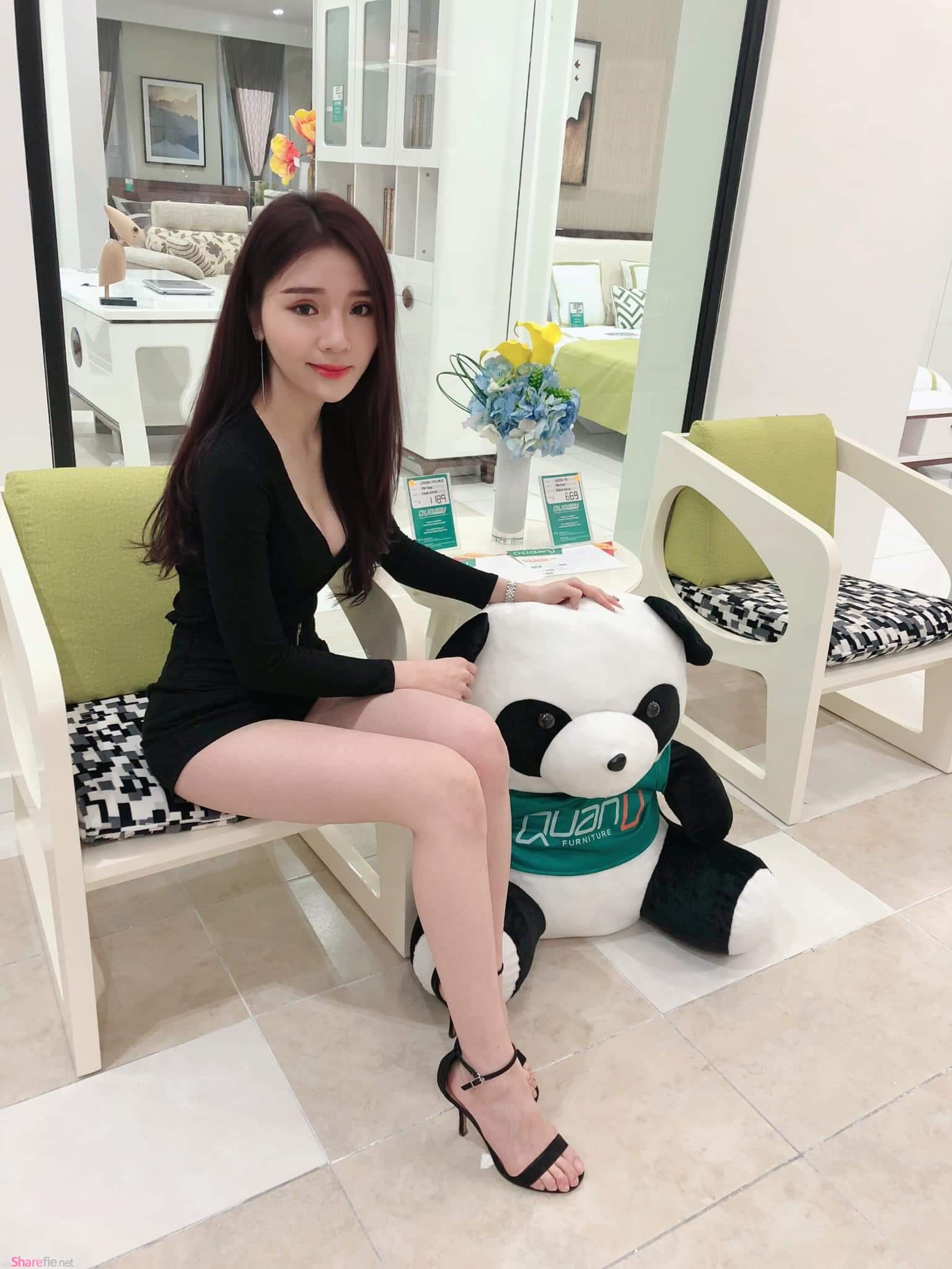大马正妹Evon Tang,沙发摆pose超迷人
