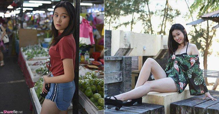大马正妹杨紫琹,逛市集外拍唯美动人