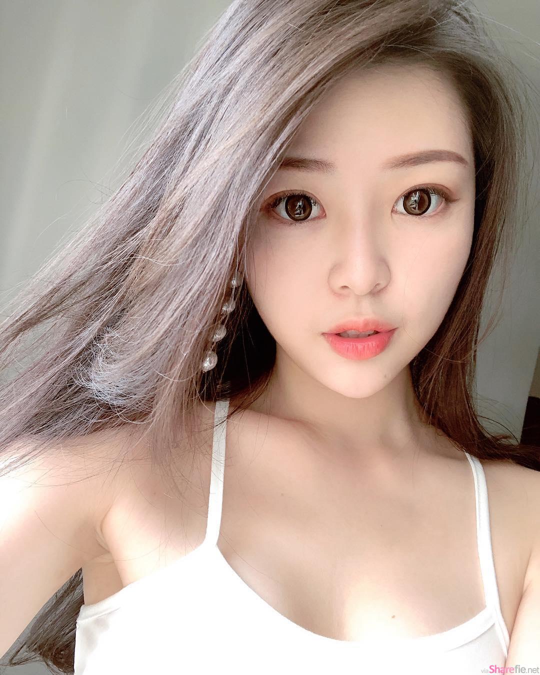 英文老师正妹Iris白皙甜美,比基尼侧乳很性感