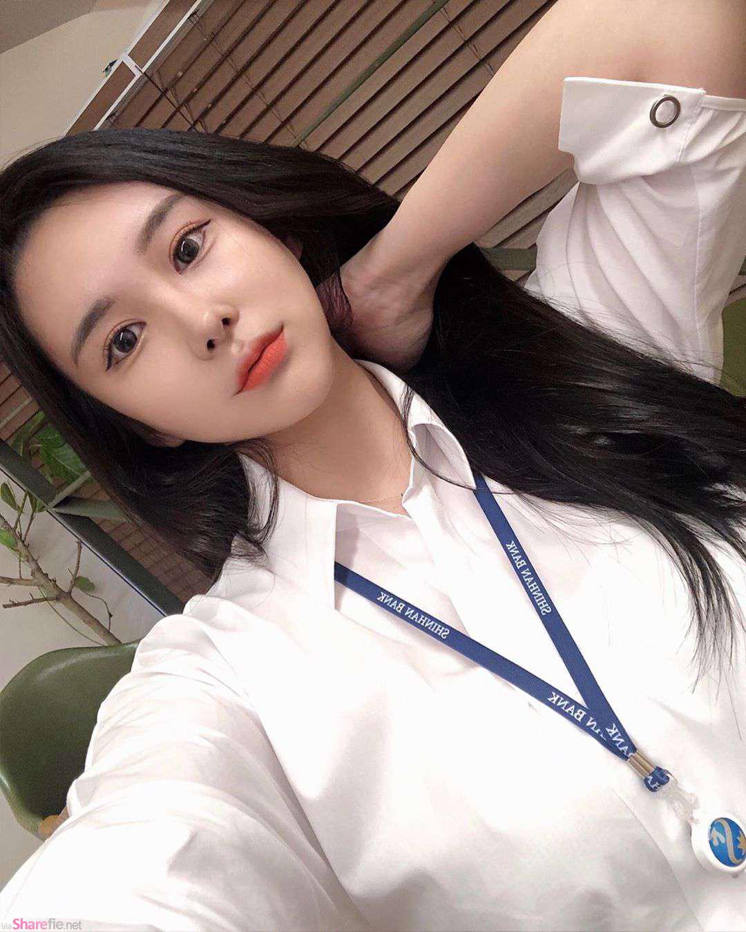 韩国银行女职员,身材很凶勐