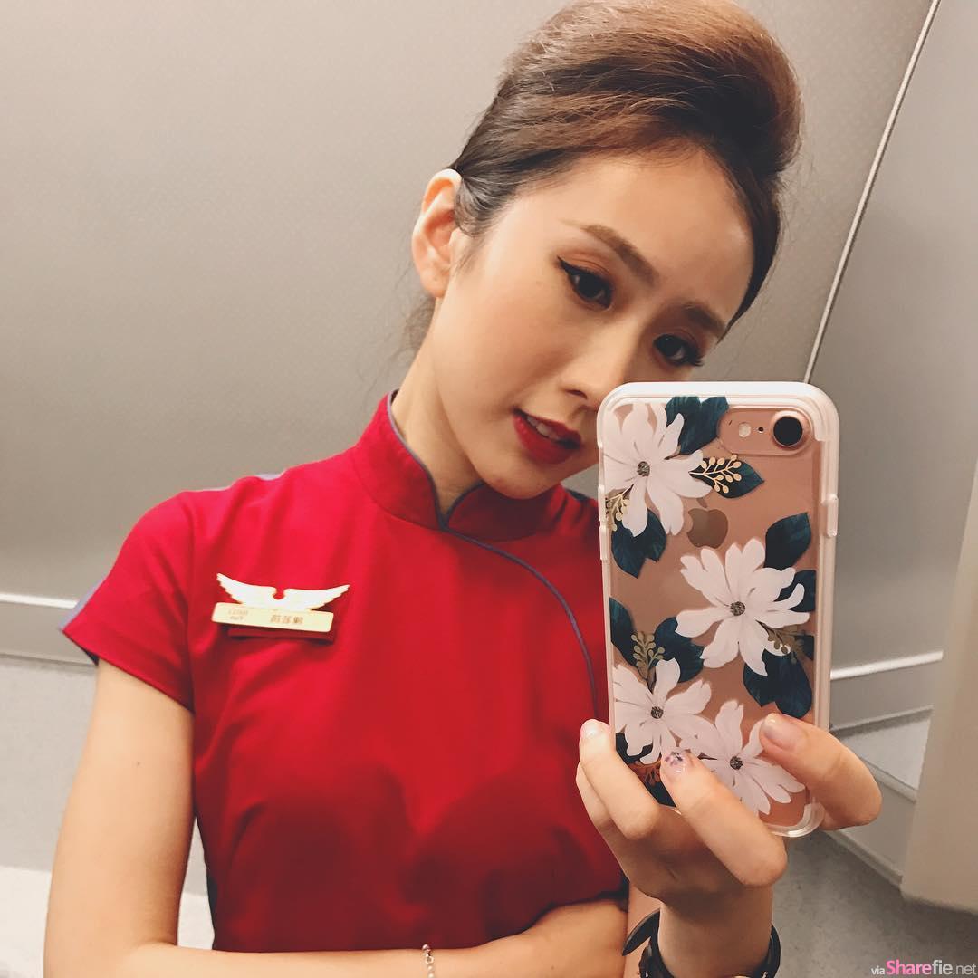 正妹空姐Linda Chen清新甜美,比基尼背影很迷人