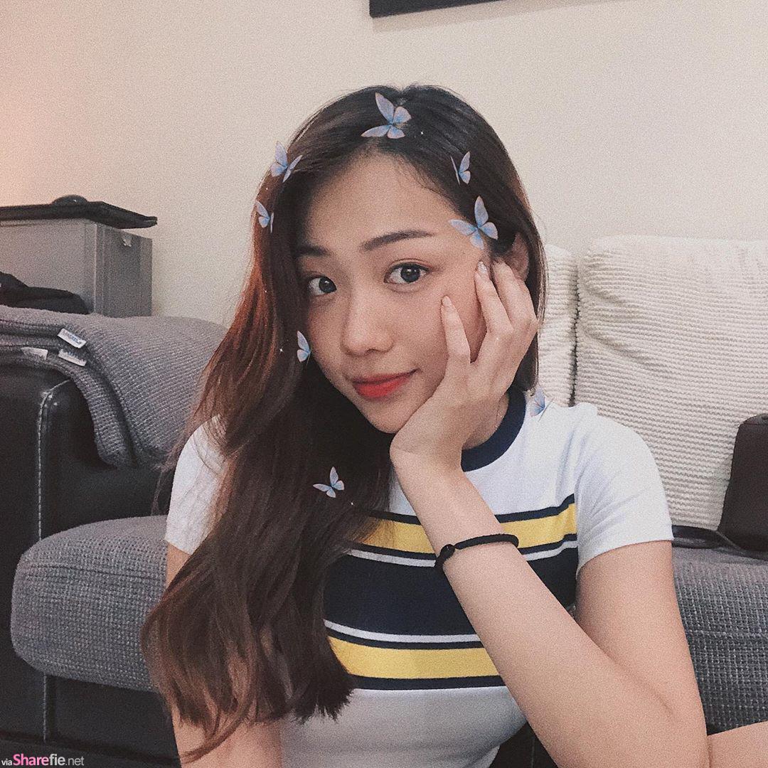 大马超正学姐Jiayi陈,100分笑容,包包吊带出卖好身材
