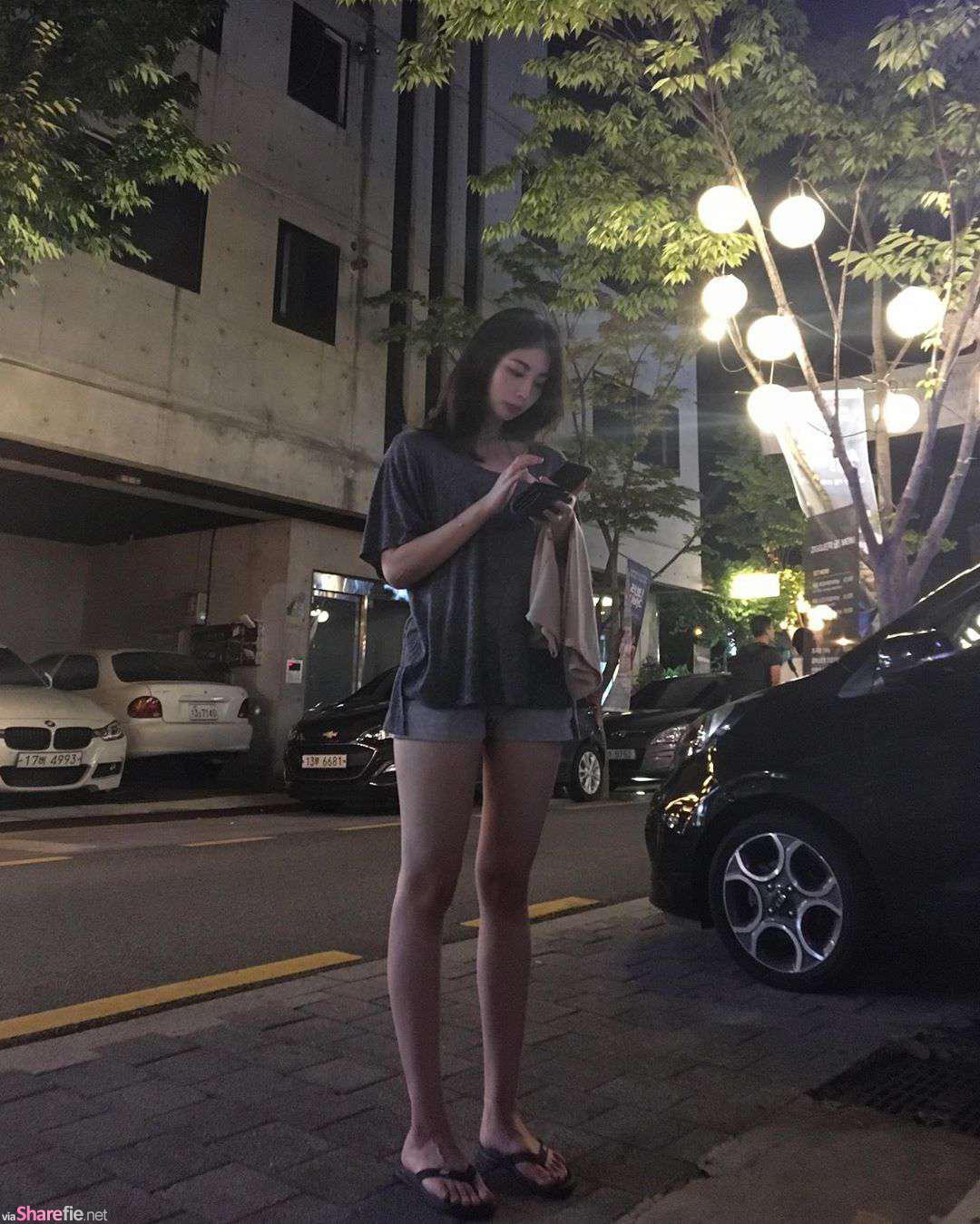 韩国正妹RoseBud,衣服挤出兇勐身材