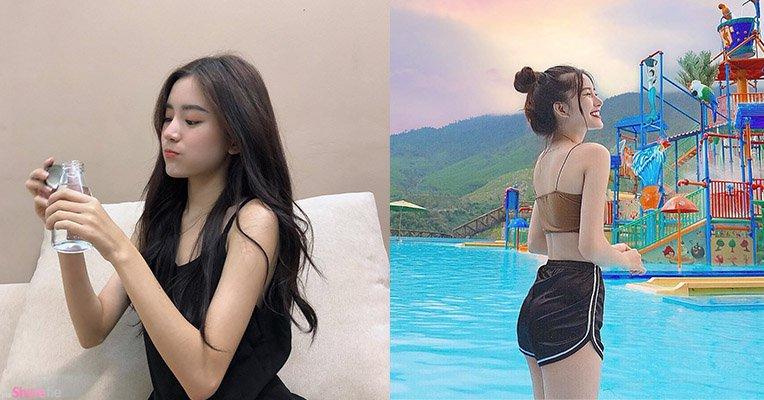 越南正妹艺人Ngo Tram,连喝一口水也那么迷人