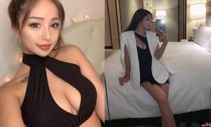 日本正妹Yurikuma穿上中空礼服,亮眼吸睛